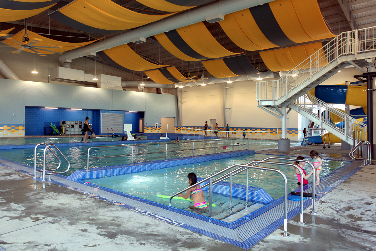 Boardman Indoor Pool view of the seperated wading pool area.