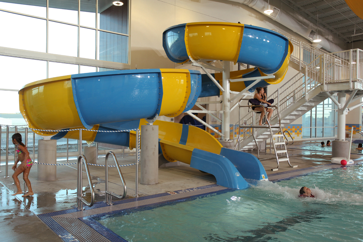 Curly water slide at Boardman Pool and Recreational Center!